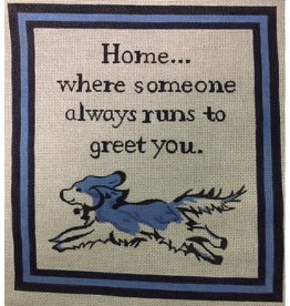 "Lycette ""Home … Where Someone Always Run to Greet You""<br /> 8"" x 8.75"""