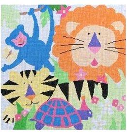 "Jean Smith Designs Friendly Beasts<br /> 14"" x 14"""