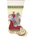 Alice Peterson Santa's Sleigh Stocking