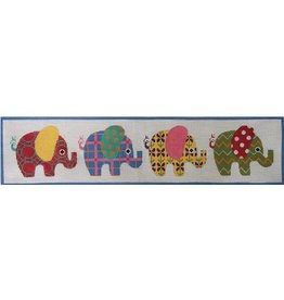 """Alice Peterson Patterened Elphants <br /> 24"""" x 5.5"""""""
