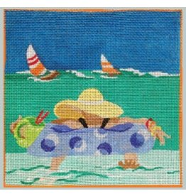 "Julie Mar Beachside Cocktails - <br /> Floating Comfort<br /> 6"" x 6"""