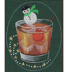"Leigh Christmas Coasters - Perfect Manhattan 5"" x 4"" Ovals"