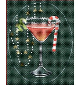 "Leigh Christmas Coasters - Cosmopolitan - 5"" x 4"" Ovals<br /> (Stitch Guide Included)"
