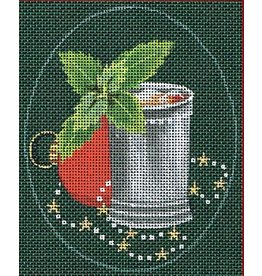 "Leigh Christmas Coasters - Mint Julep<br /> 5"" x 4"" Oval (Stitch Guide included)"