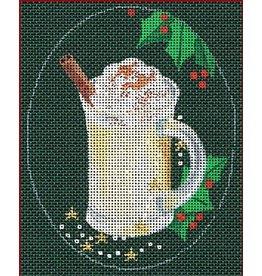 "Leigh Christmas Coasters - Eggnog -<br /> 5"" x 4"" Oval"