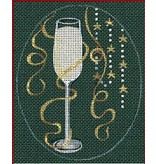 """Leigh Christmas Coasters - Champagne - 5"""" x 4"""" Oval (Stitch Guide included)"""