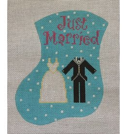 Meredith Just Married Tu & Gown - ornament