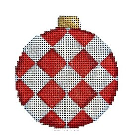 "Associated Talent Harlequin Ball ornament <br /> 3,25"" x 3.25"""
