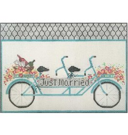 "Alice Peterson ""Just Married"" Bike<br /> 10.5"" x 8"""