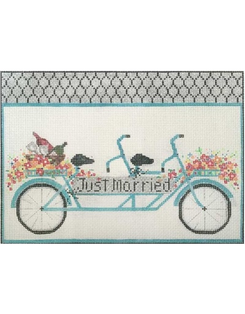 """Alice Peterson """"Just Married"""" Bike<br /> 10.5"""" x 8"""""""