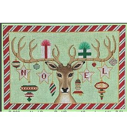 "Brenda Stofft Noel Deer Red/Green<br /> 11"" x 7.5"""