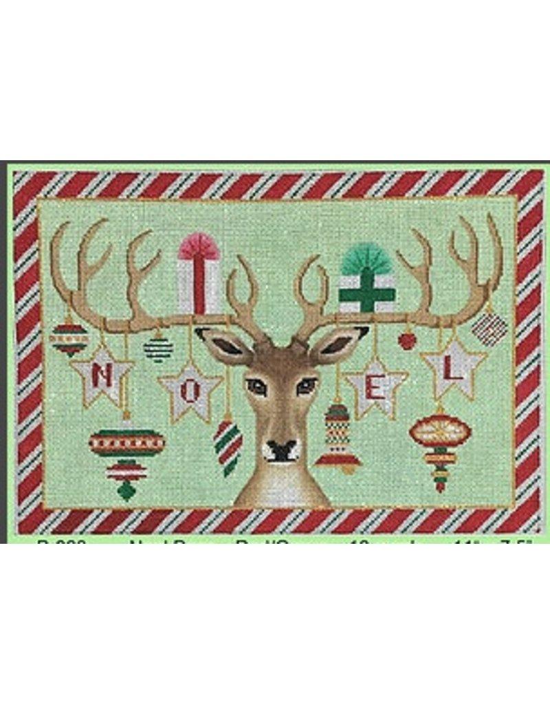 """Brenda Stofft Noel Deer Red/Green<br /> 11"""" x 7.5"""""""