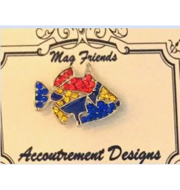 Accoutrement Designs Fish (blue, red & yellow) magnet