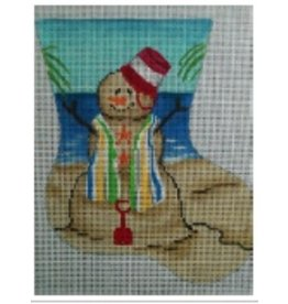 "All About Stitching Sandman Pail Mini Sock ornament<br /> 5.5"" x 7"""