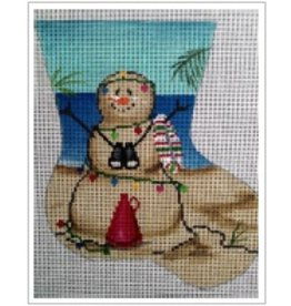 "All About Stitching Sandman LifeGuard mini stocking ornament<br /> 5.5"" x 7"""