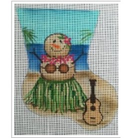 "All About Stitching Hula Dancer Sandlady ornament<br /> 5.5"" x 7"""