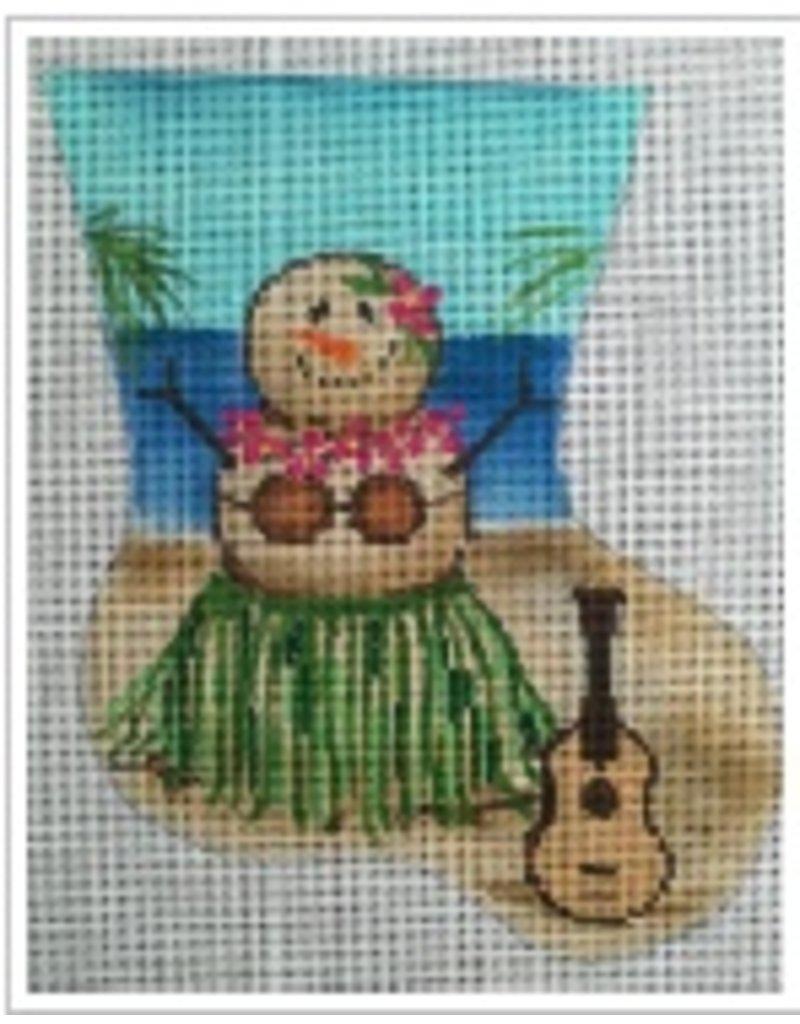 "All About Stitching Hula Dancer Sandlady ornament<br /> 5.5"" x 7"""