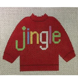 Stitch-It JINGLE Red Pull Over Sweater ornament