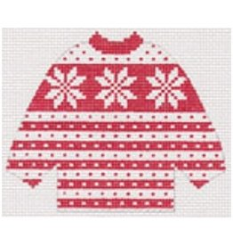 Stitch-It Red Snowflake Pull Over Sweater ornament