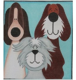 "Julie Mar 3 Whimsical Tall Pups<br /> 7"" x 8"""