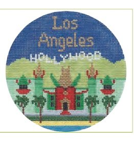 """Colonial Needle Los Angeles ornament<br /> 4.25"""" Round"""