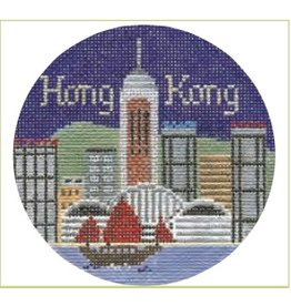 """Colonial Needle Hong Kong ornament <br /> 4.5"""" Round"""