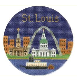 "Colonial Needle St. Louis ornament<br /> 4.25"" Round"