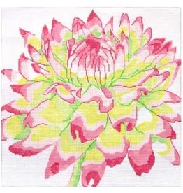 "Jean Smith Designs Pink/Green Mum<br /> 14"" x 14"""