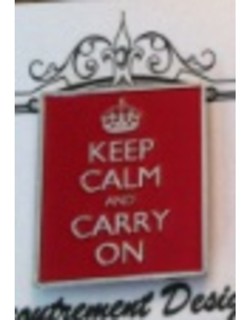 Accoutrement Designs Keep Calm and Carry On Magnet