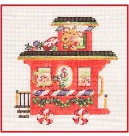 "Strictly Christmas Train Caboose<br /> 5"" x 5"""