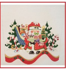 Strictly Christmas Santa w/Sleigh Stocking Cuff