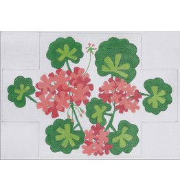 Kate Dickerson Salmon Geraniums - Brick Cover