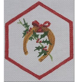 Kate Dickerson Horseshoe w/Holly ornament