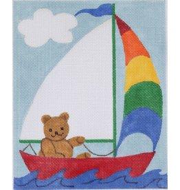"Kate Dickerson Sailing Teddy - Birth Announcement<br /> 6"" x 7.5"""