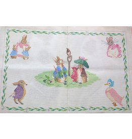 "Kate Dickerson Peter Rabbit Rug / Wall Hanging<br /> 36"" x 24"""