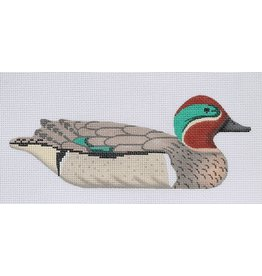 "Kate Dickerson Green Winged Teal Decoy<br /> 10"" x 4"""
