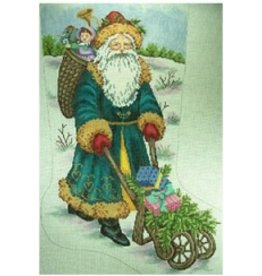 "All About Stitching Victorian Santa w/cart<br /> 15"" x 24"""