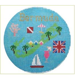 "Colonial Needle Bermuda travel round<br /> 4""  round"