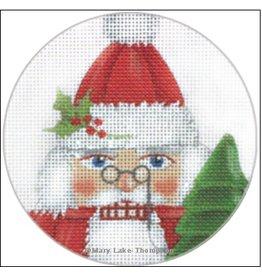 "Melissa Shirley Santa Nutcracker Ornament<br /> 4"" Round"