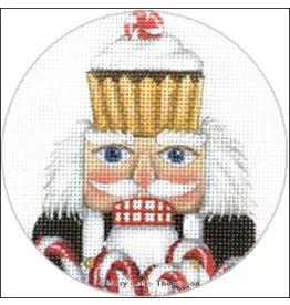 "Melissa Shirley Cook Nutcracker ornament<br /> 4"" Round"