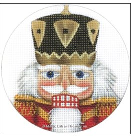 "Melissa Shirley Nutcracker ornament<br /> 4"" Round"
