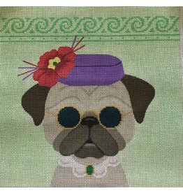 "J Malahy Derby Day - Pug<br /> 8"" x 8"""