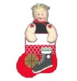Kathy Schenkel Basketball shoe &amp; ball w/basketball insert<br /> ornament