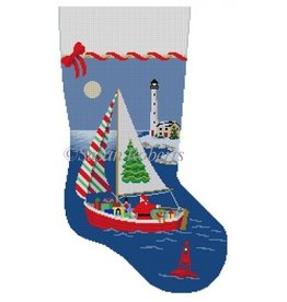Susan Roberts Sailing Santa Christmas Stocking