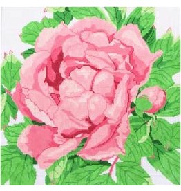 "Jean Smith Designs Pink Peony Blossom<br /> 14"" x 14"""