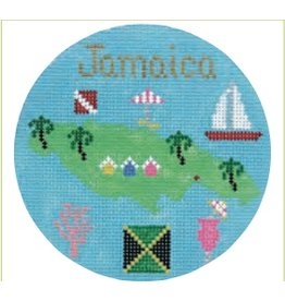 "Colonial Needle Jamaica Travel Round<br /> 4"" Round"