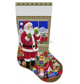Susan Roberts Santa Packing the  Bags - Stocking