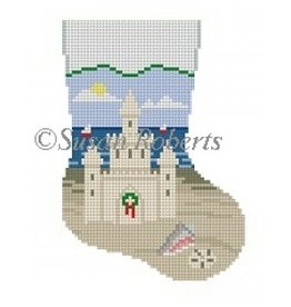 Susan Roberts Sandcastle Mini Sock - ornament