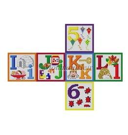 Susan Roberts Alphabet Block I,J,K,L,5,6