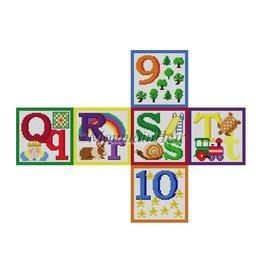 Susan Roberts Alphabet Block M,N,O,P,7,8